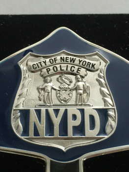 NYPD POLICE  WARRIOR  BLUE FACE COIN