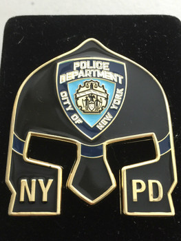 NYPD DETECTIVE  WARRIOR  BLACK FACE COIN