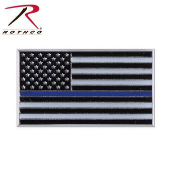 Thin Blue Line Flag Lapel Pin
