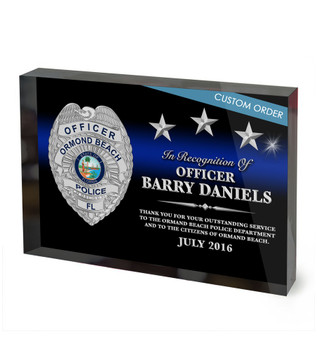 CUSTOM ACRYLIC BLOCK RECOGNITION AWARD (WPABSB) - PERSONALIZED