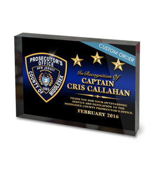 CUSTOM ACRYLIC BLOCK RECOGNITION AWARD (WPABGP) - PERSONALIZED