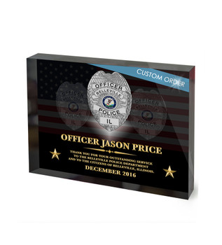 CUSTOM RECOGNITION ACRYLIC BLOCK (NRABS) - PERSONALIZED