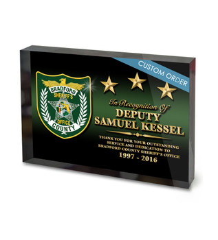 CUSTOM ACRYLIC BLOCK RECOGNITION AWARD (WPABGBA) - PERSONALIZED