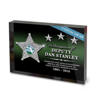 CUSTOM ACRYLIC BLOCK RECOGNITION AWARD (WPABGBP) - PERSONALIZED