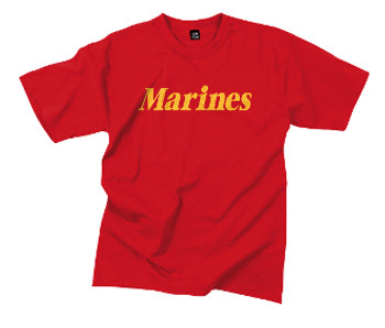 U. S. MARINE CORPS EAGLE, RED MARINES TSHIRT Lg & 2XL ONLY