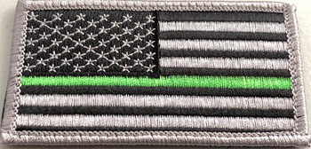 Show your support for our Florida Sheriffs, Federal Agents such as Border Patrol and Park Rangers and other LEO's with this morale patch from ChiefMart.    It features the Thin Green Line Flag.