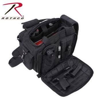 """Weight: 2.65 Material: Polyester Color: Black Closures And Fasteners: Zipper, Hook and Loop, Elastic Pockets: 9 Material Specs: 600D Polyester, PVC Interior Lining Dimensions: 16"""" x 9"""" x 11"""""""
