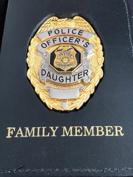 Eustis Family Badge Police Officer's Daughter