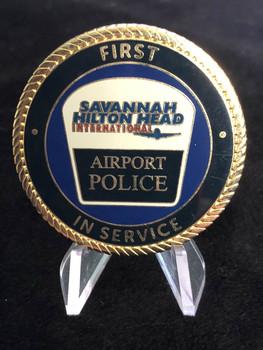 SAVANNAH HILTON HEAD AIRPORT POLICE CHALLENGE COIN RARE