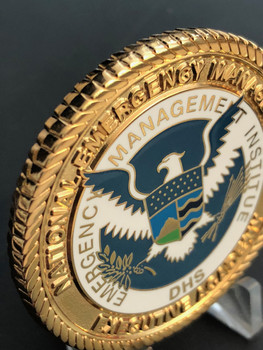 EXTREMELY RARE  FREE SHIPPING EXECUTIVE EMERGENCY MANAGEMENT ACADEMY CHALLENGE COIN     COMMAND SIZE OF 1.75 INCH DHS EMI EAGLE DISPLAYED IN FULL COLOR QUOTE FROM JOHN QUINCY ADAMS