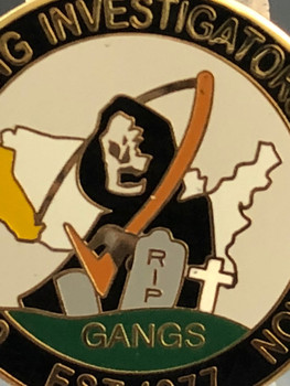 CALIFORNIA GANG INVESTIGATORS ASSN. Pin RARE!!
