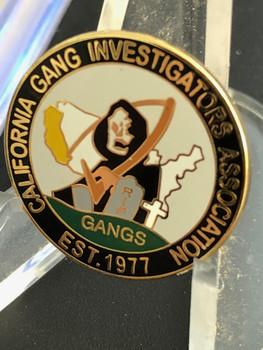 CALIFORNIA GANG INVESTIGATORS ASSN. Pin RARE!!