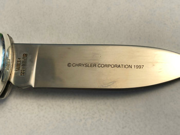 Vintage Fraternal Order Police 1971 PLYMOUTH FURY POCKET KNIFE RARE