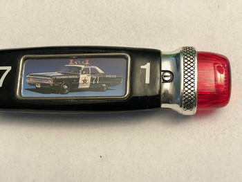 Vintage Fraternal Order Police 1971 PLYMOUTH FURY POCKET KNIFE RARE.