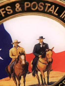 TEXAS SHERIFFS POSTAL INSPECTORS RIDERS CHALLENGE COIN