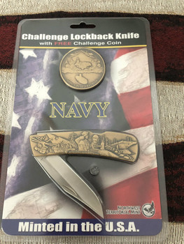 FREE Navy Coin minted to match Navy Lockback Knife