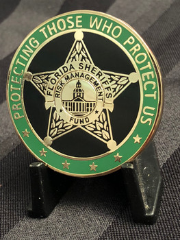 FLORIDA SHERIFF'S RISK MANAGEMENT CHALLENGE COIN RARE