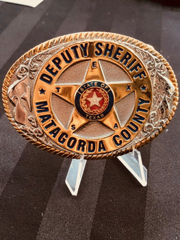 MATAGORDA CTY SHERIFF TEXAS BUCKLE RARE.