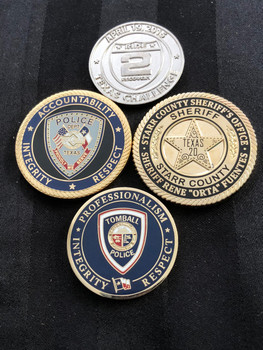 4 PACK OF TEXAS LAW ENFORCEMENT CHALLENGE COINS RARE PACK