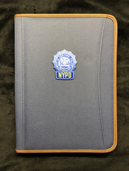 """NYPD BLUE DETECTIVE SHIELD"" Spine Left Blue Padfolio"