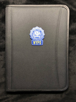 Spine Left Blue Padfolio BLACK