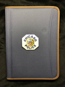 CHICAGO POLICE PATCH BLUE PADFOLIO Spine left