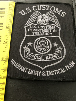 RARE US CUSTOMS WARRANT ENTRY PATCH EXTINCT AGENCY!