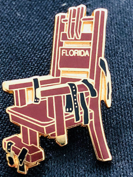 OLD SPARKY FL ELECTRIC CHAIR REPLICA Pin RARE!!