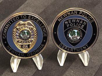 NEWNAN GA POLICE CHALLENGE COIN RARE