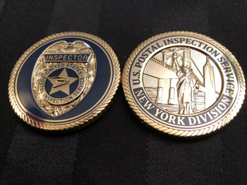 U.S. POSTAL INSPECTION SERVICE NY DIVISION LIBERTY COIN