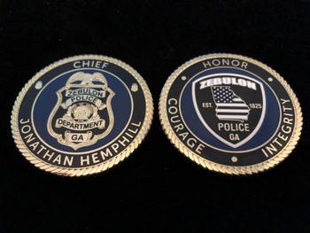 ZEBULON GA POLICE CHALLENGE COIN