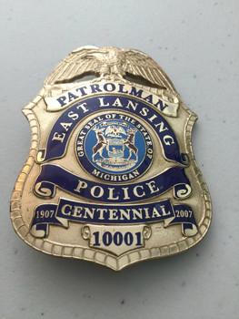 East Lansing MI, 2007 Centennial PATROLMAN Badge