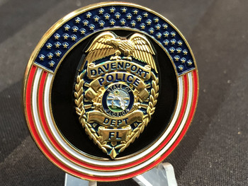 DAVENPORT FL POLICE CHALLENGE COIN