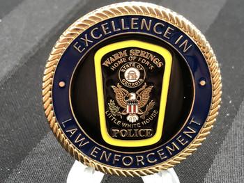 WARM SPRINGS GA POLICE CHALLENGE COIN RARE