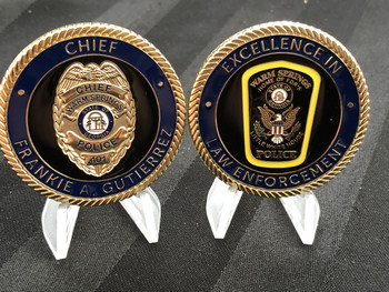 WARM SPRINGS GA POLICE CHALLENGE COIN EBAY COPBAY