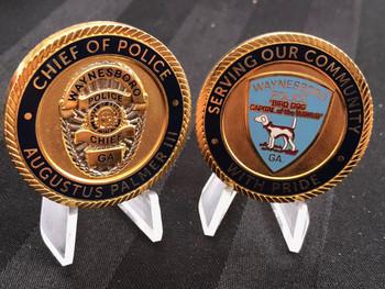 WAYNESBORO GA POLICE CHALLENGE COIN
