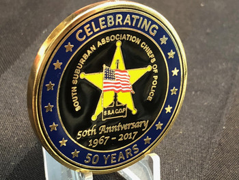 SOUTH SUBURBAN CHICAGO POLICE CHIEFS 50 YR CHALLENGE COIN