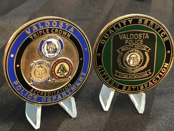 VALDOSTA GA POLICE  TRIPLE CROWN  CHALLENGE COIN
