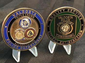 VALDOSTA GA POLICE  TRIPLE CROWN  CHALLENGE COIN