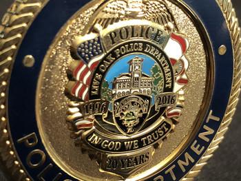 LIVE OAK POLICE FL COIN  20 YEAR ANNIV. COIN
