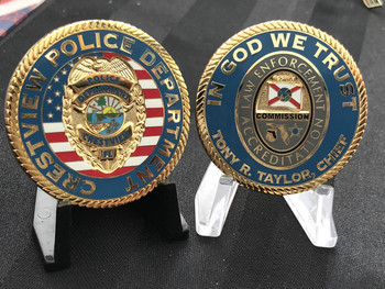 CRESTVIEW POLICE FL  CHALLENGE COIN RARE