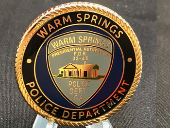 WARM SPRINGS GA POLICE CHALLENGE COIN #2
