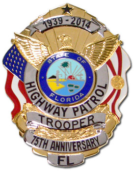 TROOPER FHP 75TH ANNIVERSARY BADGE