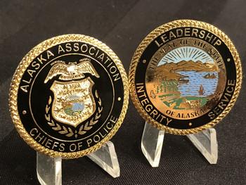 ALASKA CHIEFS OF POLICE CHALLENGE COIN RARE