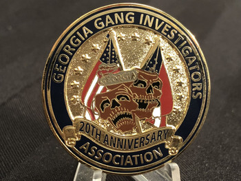 GEORGIA GANG INVESTIGATORS 20TH ANNIV. COIN RARE