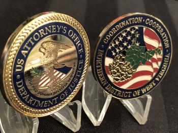 US ATTORNEY NORTH WEST VIRGINIA COIN