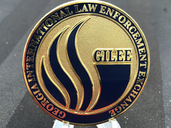 GEORGIA INTL LAW ENFORCEMENT EXCHANGE 25TH COIN HUGE 2 INCH