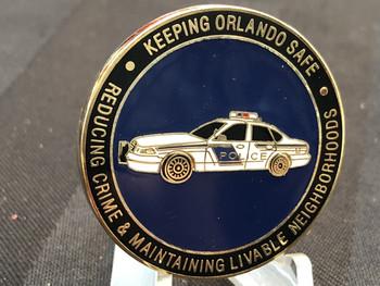 ORLANDO FL POLICE CHALLENGE COIN RARE