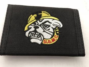 MARINE CORPS WALLET DEVIL DOG LOGO BLACK