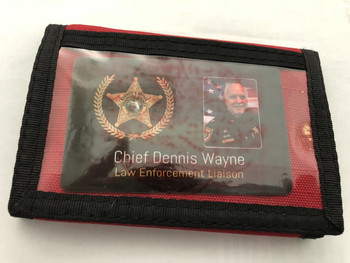 MARINE CORPS WALLET DEVIL DOG LOGO RED